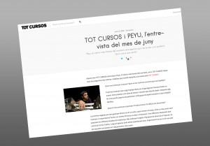 TOT CURSOS i PEYU, l'entrevista del mes de juny
